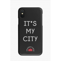 "Чехол Iphone ""It's My City"" (черный)"